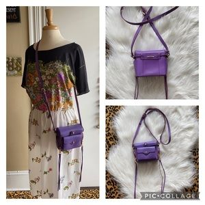Rebecca Minkoff camera box tassel purple crossbody